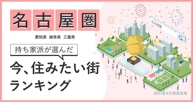 今最も住みたい街は?「今住みたい街ランキング(2021)」名古屋圏の結果を公開